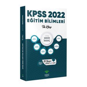 kpss egitim bilimleri tek kitap bekir inanc